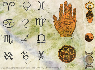 Unmounted Rubber Stamp Set Magical Symbols #Magi-040