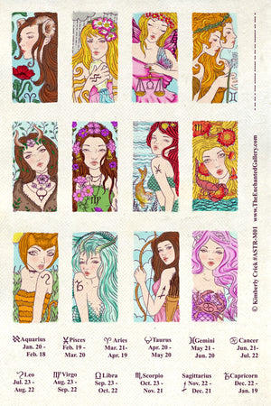 Unmounted Rubber Stamp Set Astrology Domino #Astr-M01