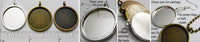20mm Circle Pendant Tray Plain Style Smooth Back (Select Color, Amount, or Optional Insert)