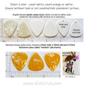 Blank Guitar Picks (5 Pack) for Rubber Stamp Craft Jewelry No Writing Logo (Select a Color and Hole Placement)
