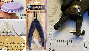 "Hole Punch Tool for Bottle Caps or Guitar Picks 1/16"" (1.8mm)"