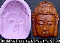 Flexible Push Mold Buddha Face Cab