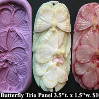 Flexible Push Mold XL Butterfly Trio Panel