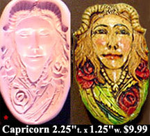 Flexible Push Mold Capricorn Horned Earth Spirit