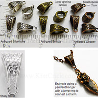 Necklace Bail Jewelry Connector Cobblestone Path Texture Pendant Hanger