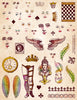 Unmounted Rubber Stamp Set Paper Doll Collage #Colg-113