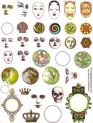 Unmounted Rubber Stamp Set Clay Button Textures #Bttn-105
