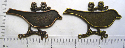60mm wide Bird on Tree Branch Pendant Tray (Select a Color)