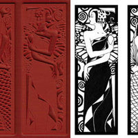 Unmounted Rubber Stamp Set Decorative Bookmarks #Deco-010