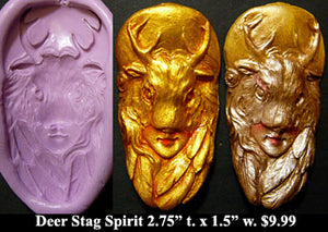 Flexible Push Mold Deer Stag Mask Spirit