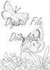 Digital File - Xerces Butterfly Line Drawing Digi Stamp Printable Clip Art Download