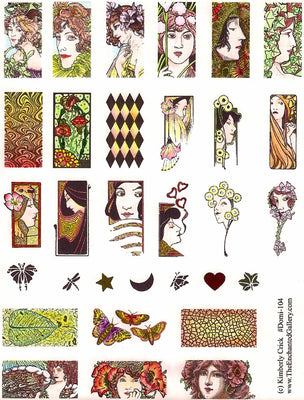 Unmounted Rubber Stamp Set Domino Art #Domi-104