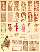Unmounted Rubber Stamp Set Daring Women Dominoes #Bold-121