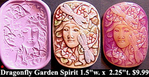 Flexible Push Mold Lady in a Dragonfly Garden