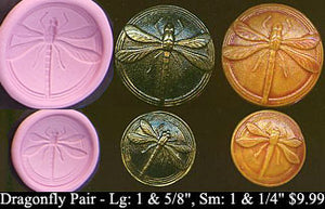 Flexible Push Mold Dragonfly Button Large and Small