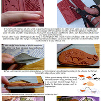 Tutorial how to use unmounted rubber stamps or mounting foam step by step