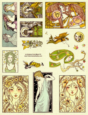 Unmounted Rubber Stamp Set Mystic Mythology #Myst-110