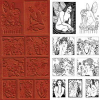 Unmounted Rubber Stamp Set Fairies #Fair-102