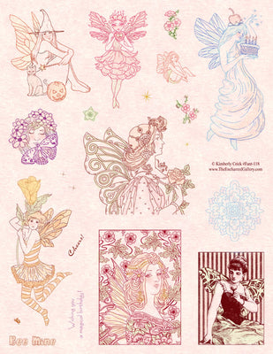 Unmounted Rubber Stamp Set Fantasy Fairy Art #Fant-118