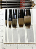 Flat Watercolor Brushes - Synthetic Nylon Beginner Artist Bargain Set