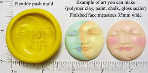 Flexible Push Mold Shared Sun and Moon Face