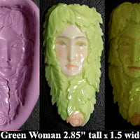 Flexible Push Mold Traditional Forest Green Woman