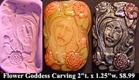 Flexible Push Mold Small Fairy of the Flowers Goddess