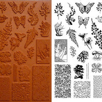 Unmounted Rubber Stamp Set Forest Collage #Fore-M06