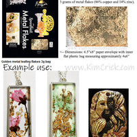 Gold Leaf Metal Flakes by Speedball Mona Lisa Brand Foil 3g