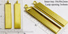 10x50x2mm Long Rectangle Pendant Tray Goldtone