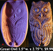 Flexible Push Mold Wise Great Owl