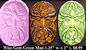 Flexible Push Mold Wise Gem Green Man
