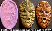 Flexible Push Mold Feathered Green Man
