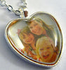 25mm Heart Shaped Locket Pendant Tray with Glass over Photograph