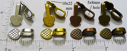 Glue-on pendant hanger bails necklace making jewelry supplies polymer clay beads