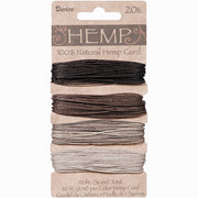 Hemp Necklace Cord Natural Color Assortment 120 ft