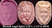 Flexible Push Mold Large Horned Angel Spirit