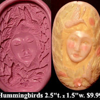 Flexible Push Mold Hummingbirds Fey Cameo