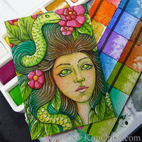 Affordable artist gift best beginner brand watercolor set kimberly crick art supply reviews medusa eve speedpaint