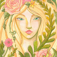 Paul Rubens watercolor 48 color set review Kimberly Crick Art fairy dragonfly rose botanical portrait painting