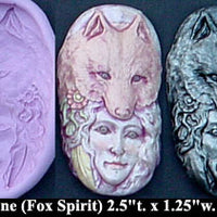 Flexible Push Mold Japanese Fox Spirit Kitsune