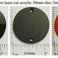 Laser Cut Acrylic Limited Edition Colors 30mm Circle Disc 5 Pack (select a style)