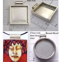 Pendant Tray by Lisa Pavelka 4mm Deep (Select Silver Square or Circle)