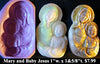 Flexible Push Mold Mary and Baby Jesus