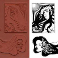 Unmounted Rubber Stamp Set Modern Women #Mdrn-000