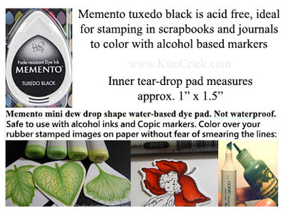 Memento Small Dew Drop Dye Ink Pad Tuxedo Black