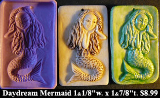 Flexible Push Mold Daydreaming Mermaid Panel