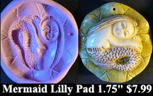 Flexible Push Mold Mermaid on Lily Pad Round