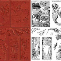 Unmounted Rubber Stamp Set Mythology Sirens #Sire-114