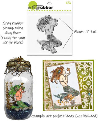 Stampendous Cling Foam Mermaid Rubber Stamp